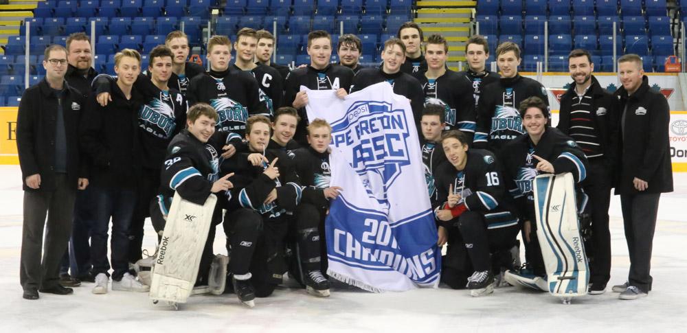 Team Auburn Eagles Moncton High School Hockey Classic